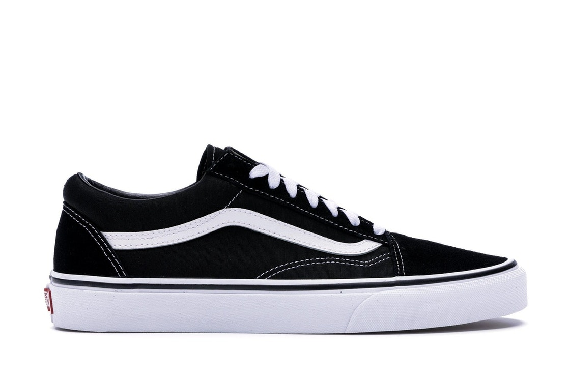 old skool vans black and white cheap