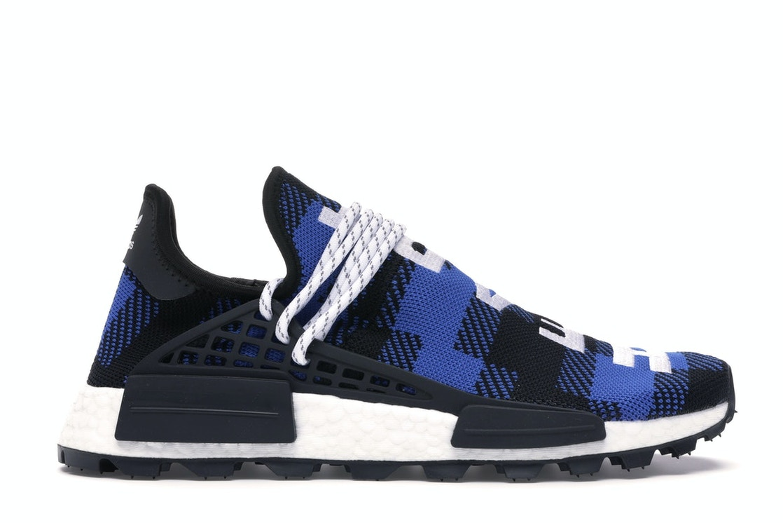 reputable site 051e9 6c469 adidas NMD Hu Pharrell x BBC Blue Plaid