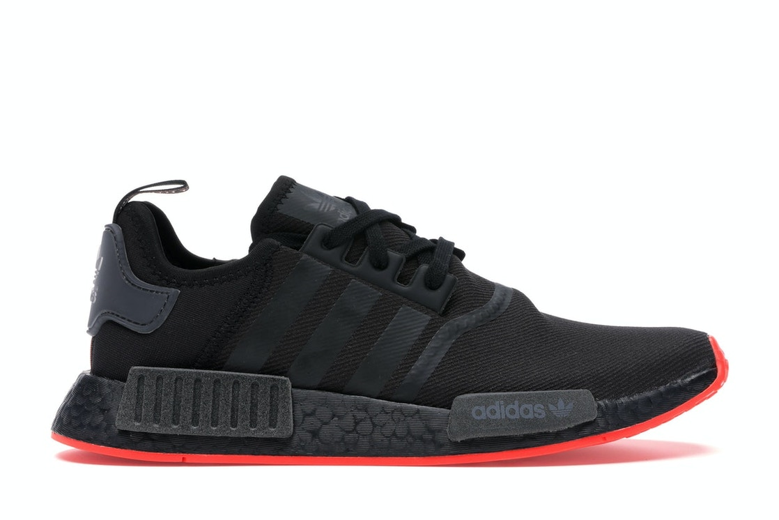 sports shoes 43f99 6cd82 adidas NMD R1 Core Black Solar Red