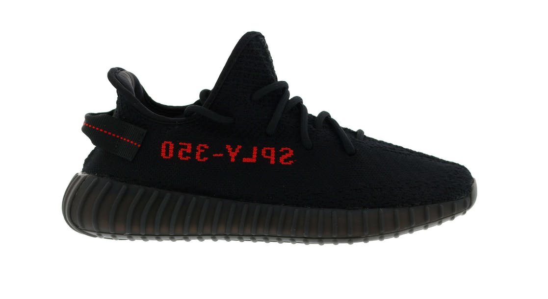 adidas Yeezy Boost 350 V2 Infant Toddler Size Core Black Red Kanye