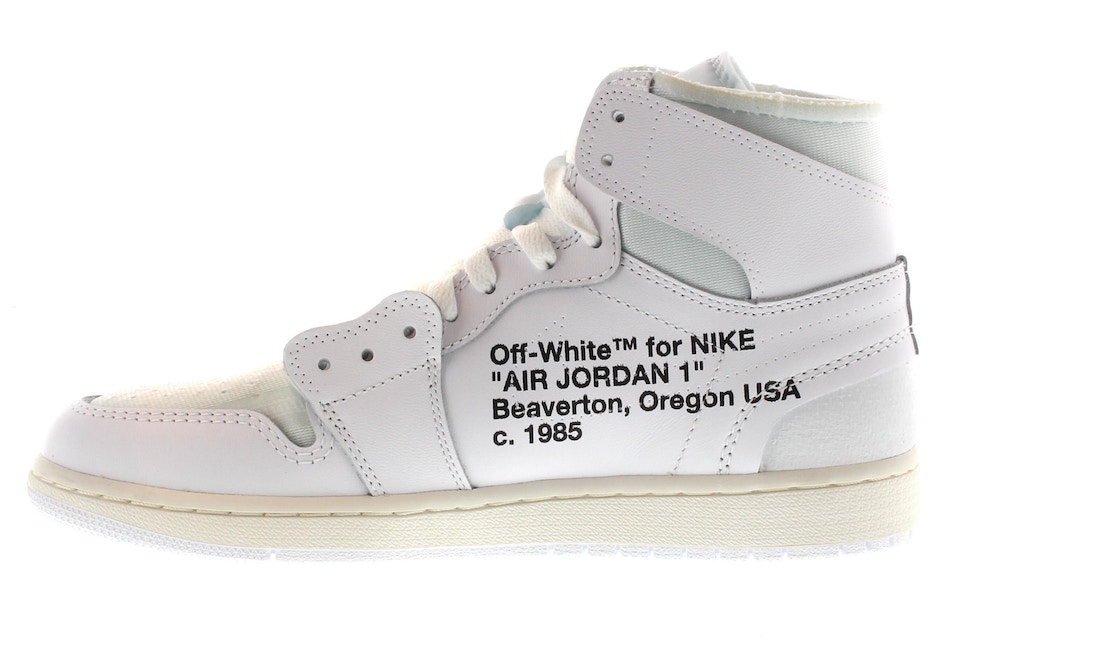 on sale 96b25 c1346 Jordan 1 Retro High Off-White White
