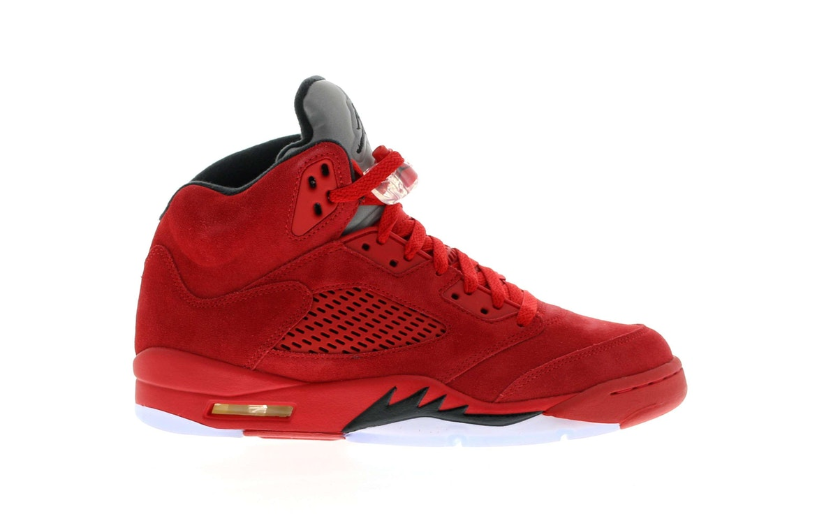 retro jordan 5 red suede men