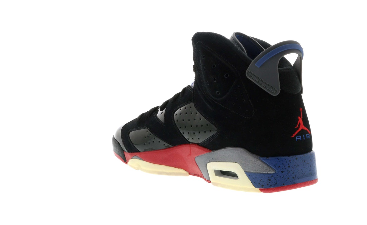 reputable site ad563 ce070 usa air jordan 6 vi detroit pistons black varsity red true blue light  graphite 384664 fe45f a8f5a  real jordan 6 retro pistons 384664 001 eda49  2fa2b