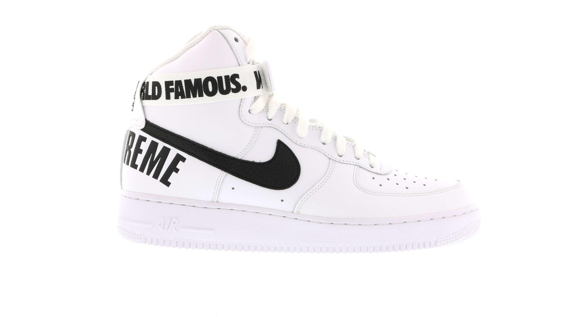 Sell. or Ask. Size  11.5. View All Bids. Air Force 1 High Supreme World  Famous White 4a410d6539