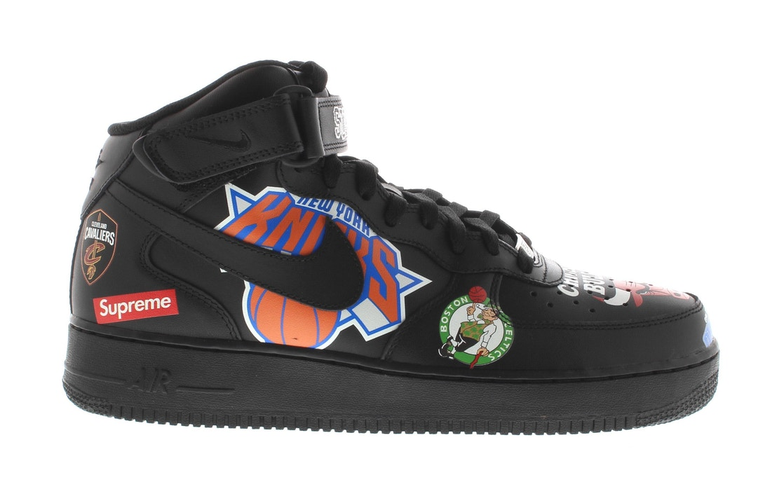 on sale 59c10 ee9f2 Air Force 1 Mid Supreme NBA Black