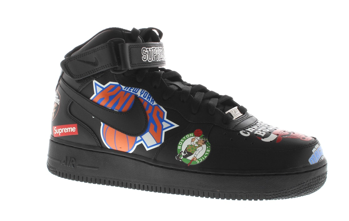 online retailer 2d9f7 59152 Air Force 1 Mid Supreme NBA Black - AQ8017-001