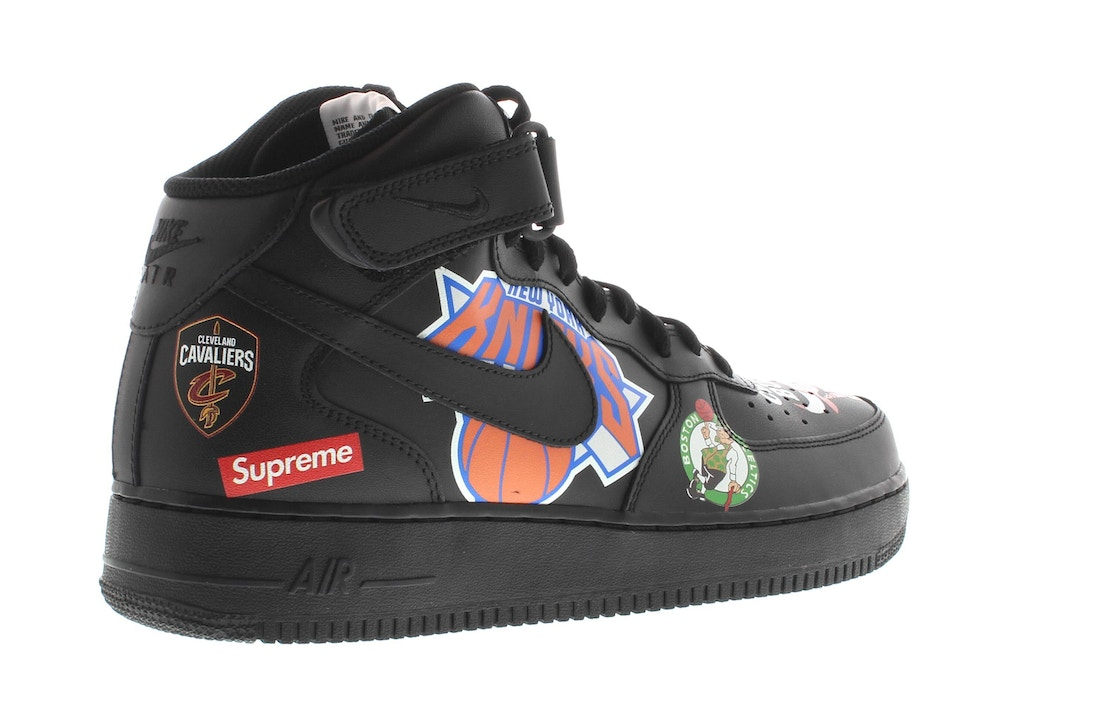 online retailer 98466 cc665 Air Force 1 Mid Supreme NBA Black - AQ8017-001