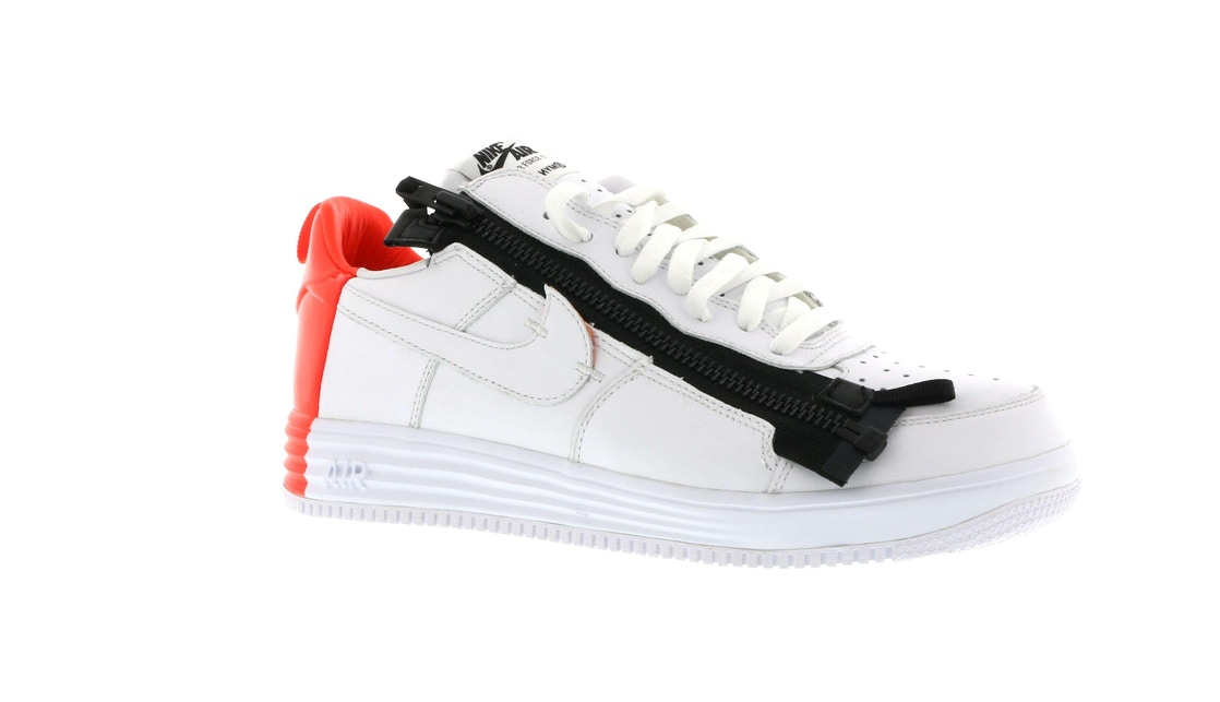 detailed pictures 0a756 bc497 Lunar Force 1 Low Acronym Bright Crimson - 698699-116