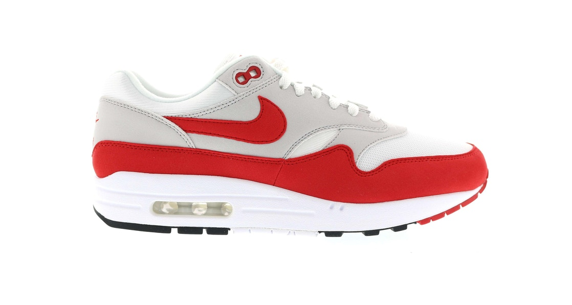 uk availability 9e531 d4b84 Air Max 1 Anniversary Red (2017) - 908375-100