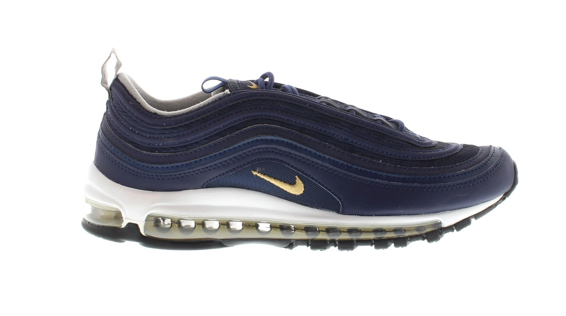 uk availability 5b537 f820a Air Max 97 Midnight Navy Metallic Gold