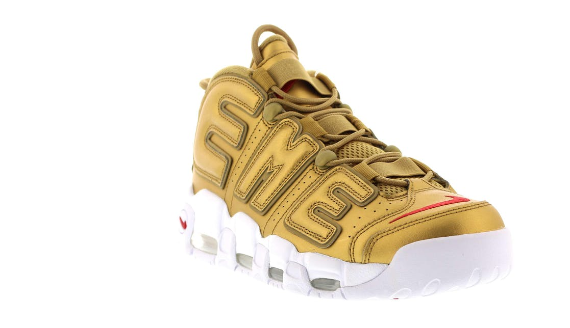 Air More Uptempo Supreme Quot Suptempo Quot Gold