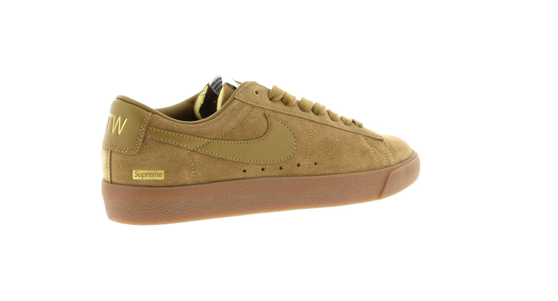 buy popular ebc90 65968 Nike SB Blazer Low GT Supreme Golden Beige - 716890-229