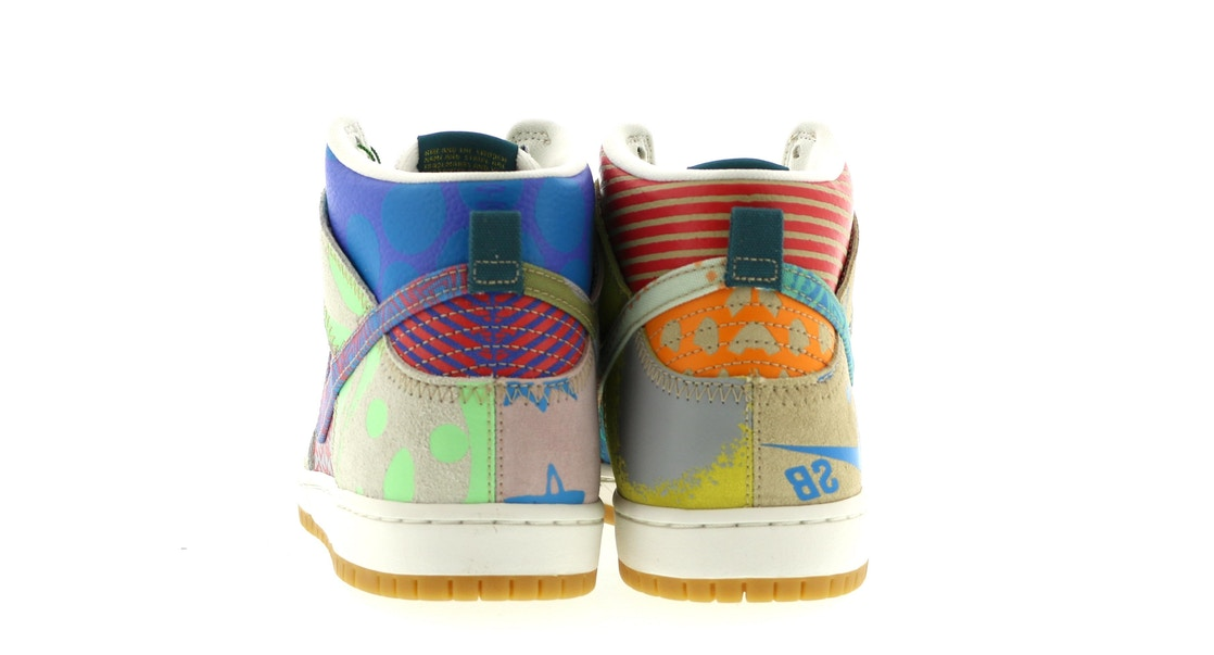 timeless design 0ab62 11111 Nike SB Dunk High Thomas Campbell What the Dunk - 918321-381
